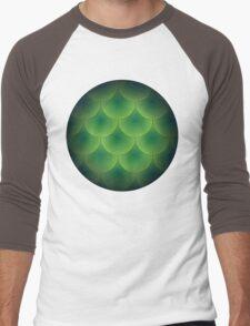 Green Scales Men's Baseball ¾ T-Shirt