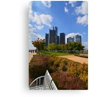 Welcome to Detroit City Canvas Print