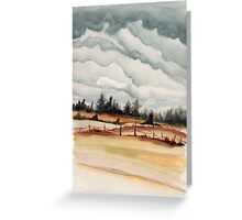 western oregon landscape Greeting Card