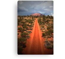 A track leading back... Canvas Print