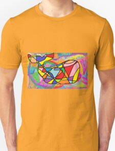 Rainbow Whale in a Sea of Dreams T-Shirt