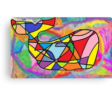 Rainbow Whale in a Sea of Dreams Canvas Print