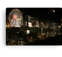 Edinburgh at Christmas and New Year Canvas Print