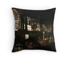 Edinburgh at Christmas and New Year Throw Pillow