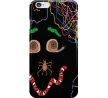 Psychedelically Glowing Spider Webs & Garden Critters iPhone Case/Skin