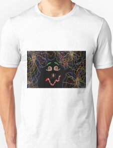 Psychedelically Glowing Spider Webs & Garden Critters Unisex T-Shirt