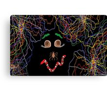 Psychedelically Glowing Spider Webs & Garden Critters Canvas Print