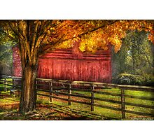 An old Red Barn Photographic Print
