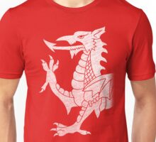 Welsh Dragon White Unisex T-Shirt