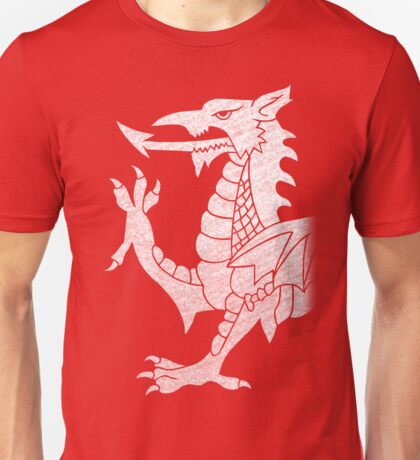 Welsh Dragon White Unisex T-Shirt