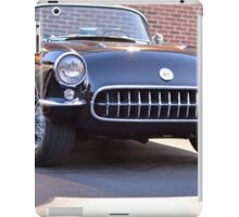 Black Classic Corvette iPad Case/Skin