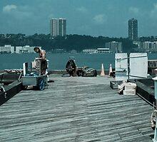 79th Street Boat Basin Jersey Shore by Judith Oppenheimer