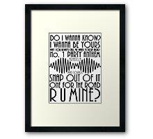 Arctic Monkeys AM Songs Framed Print