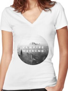 VAMPIRE WEEKEND  Women's Fitted V-Neck T-Shirt
