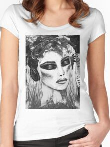 Alice Black & White Women's Fitted Scoop T-Shirt
