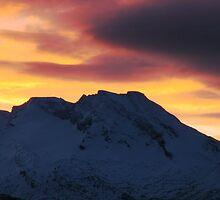 Mountain Sunset by Bodil Kristine  Fagerthun