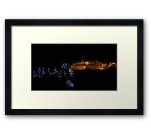 Edinburgh Castle and Christmas Trees Framed Print