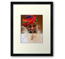 Smile from the wise man Framed Print