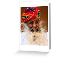 Smile from the wise man Greeting Card