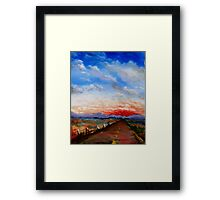 red highway Framed Print