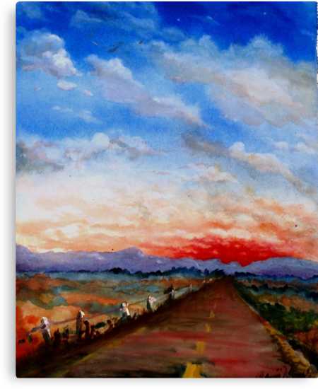 red highway by resonanteye