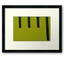 Mystery VII - Tape Measure Framed Print