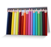 Pencil Case Greeting Card