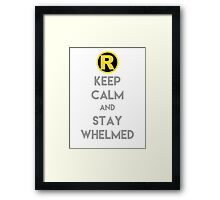 Keep Calm and Stay Whelmed Framed Print