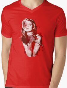 Splatter Buffy Mens V-Neck T-Shirt