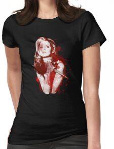 Splatter Buffy Womens Fitted T-Shirt