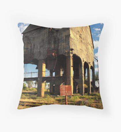 The coal storehouse. Throw Pillow