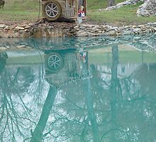 Water Wheel reflections in NC by RealPainter
