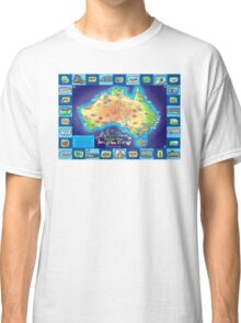 Australia Map board game Classic T-Shirt
