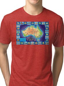 Australia Map board game Tri-blend T-Shirt