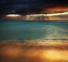 Land Sea Sky I by Tom Black