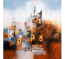 Church in Orange and Blue Photographic Print