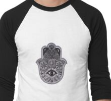 Hamsa Hand Men's Baseball ¾ T-Shirt