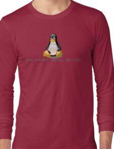 Linux - Get Install Sex Life Long Sleeve T-Shirt