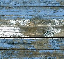 Flag of Argentina on Rough Wood Boards Effect by Jeff Bartels