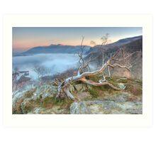 Mist on Derwent Water Art Print
