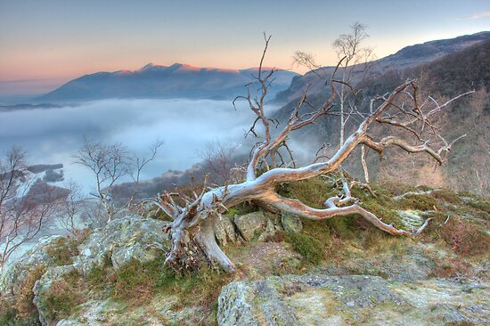 Mist on Derwent Water by Rich Gale