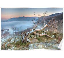 Mist on Derwent Water Poster