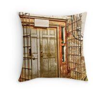 Iron Gate and Door Throw Pillow