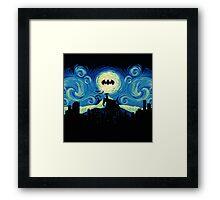 Starry Knight Gotham City Framed Print