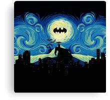 Starry Knight Gotham City Canvas Print