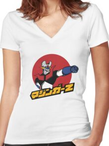 Mazinger-Z Women's Fitted V-Neck T-Shirt