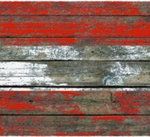 Flag of Austria on Rough Wood Boards Effect Sticker