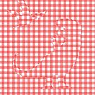 Dinosaurs Hiding In Gingham by jezkemp