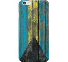 Flag of Bahamas on Rough Wood Boards Effect iPhone Case/Skin