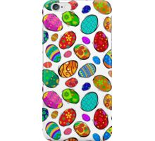 Easter Eggs on White Design iPhone Case/Skin